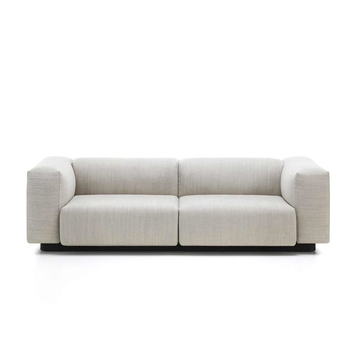 Vitra - Soft Modular Sofa, 2-seater, cream / steel grey (Maize 03)