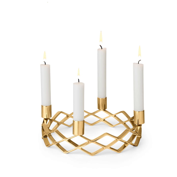 Gold Plated Advent Candelabra by Rosendahl