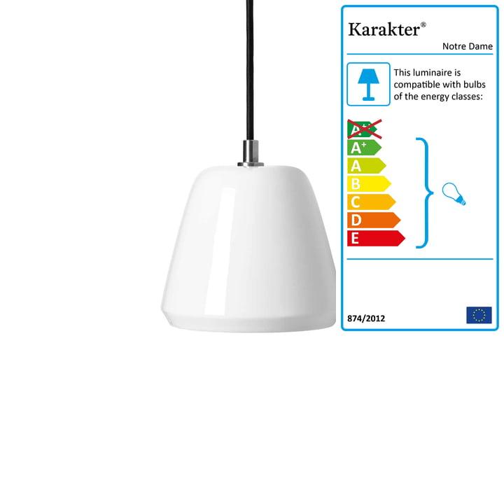 Notre Dame Pendant Lamp ø 15 cm by Karakter in White
