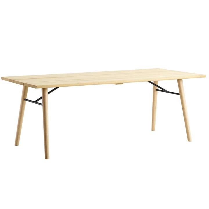 Split Dining Table by Woud in soaped oak