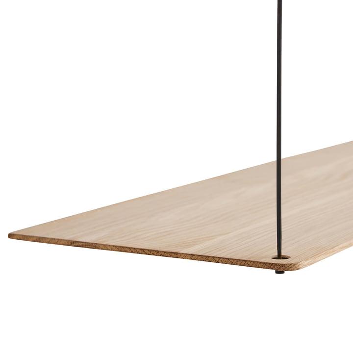 Stedge Shelf in soaped oak