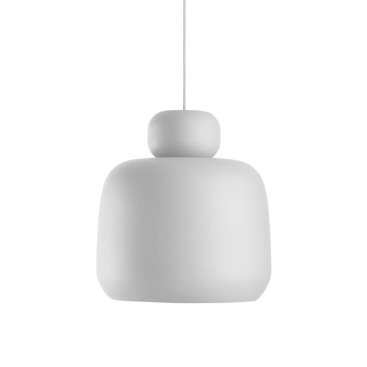 Woud - Stone Pendant Lamp, small, white