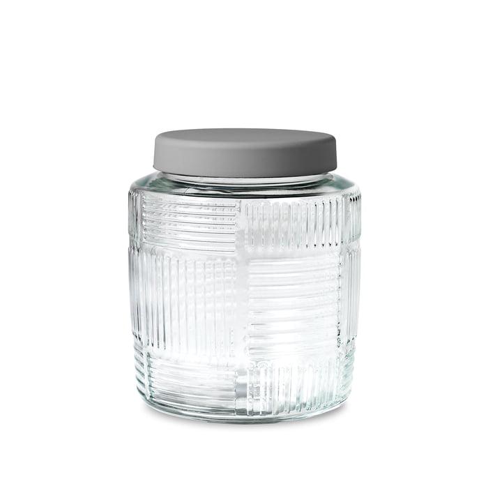 Nanna Ditzel Storage Jar 2.0 l by Rosendahl with grey lid