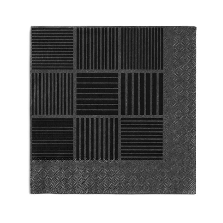 Nanna Ditzel Paper Napkins 20 pcs. 40 x 40 cm by Rosendahl in black / grey