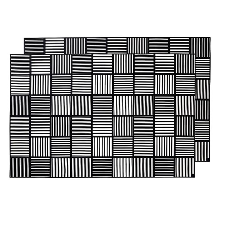 Nanna Ditzel Placemat 30 x 45 cm by Rosendahl in Black