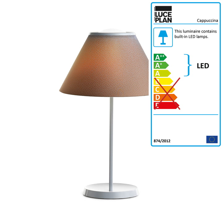 Cappuccina Table Lamp by Luceplan in brown