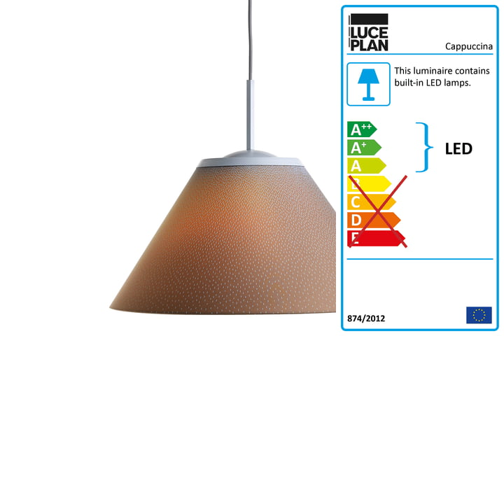 Cappuccina Pendant Lamp by Luceplan in Brown