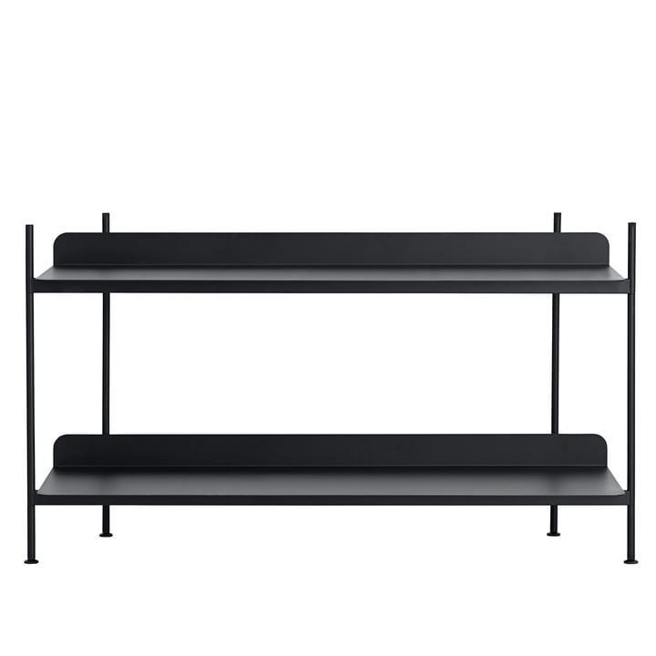 Compile Shelving System (Config. 1) by Muuto in black