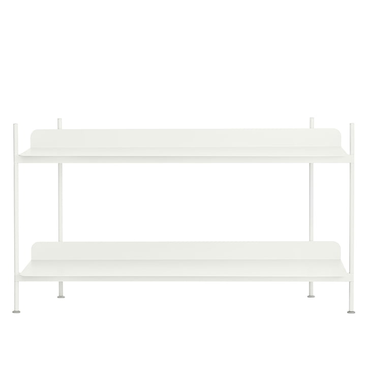 Compile Shelving System (Config. 1) by Muuto in white