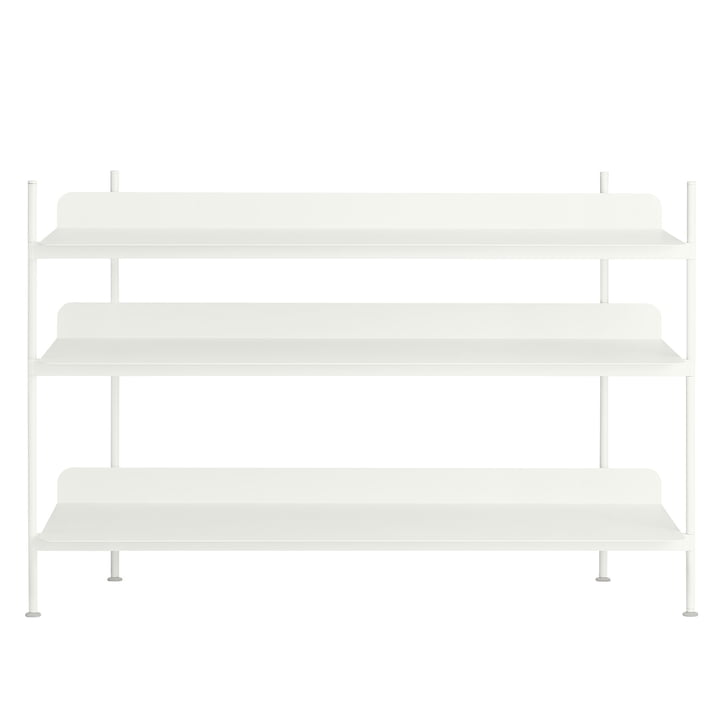 Compile Shelving System (Config. 2) by Muuto in white