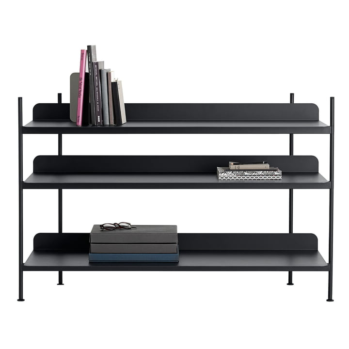Compile Shelving System (Config. 2) by Muuto in black