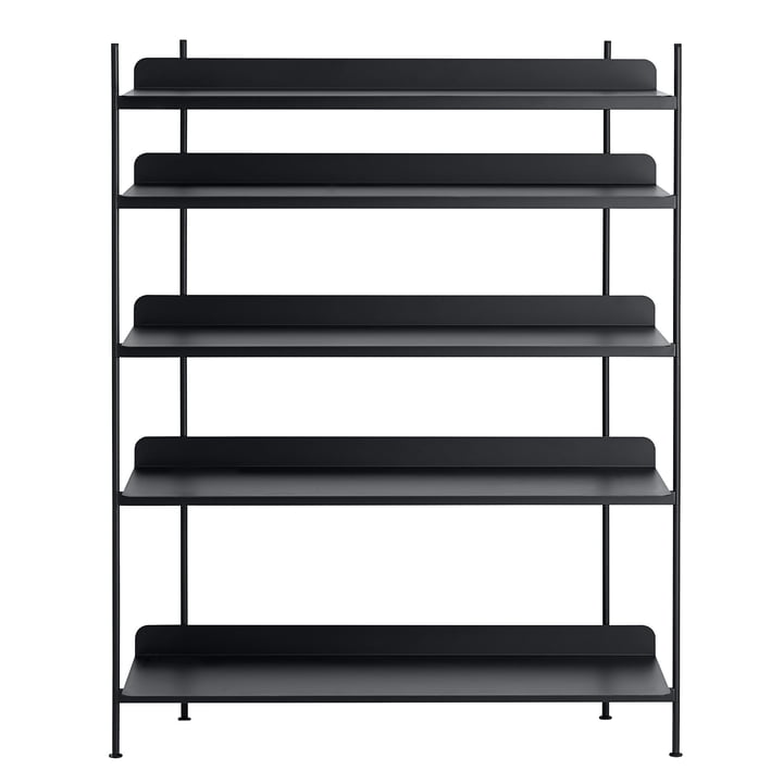 Compile Shelving System (Config. 3) by Muuto in black