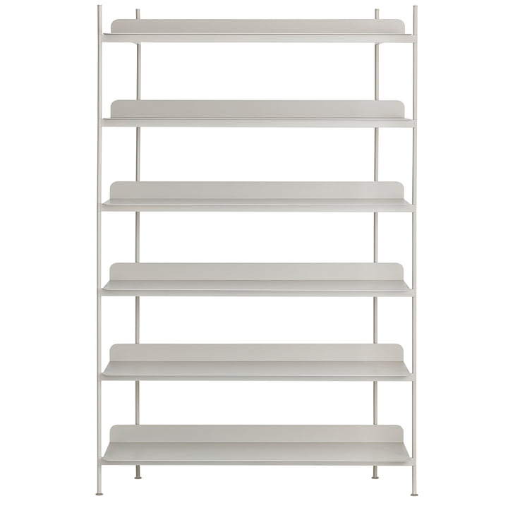Compile Shelving System (Config. 4) by Muuto in grey