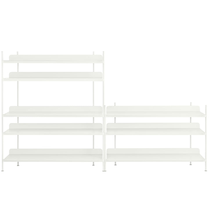 Compile Shelving System (Config. 7) by Muuto in white