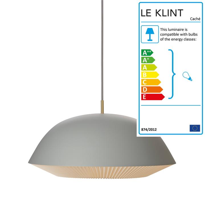 Caché Pendant Lamp XL by Le Klint in Grey