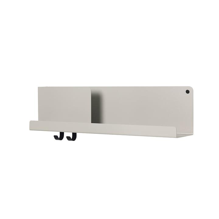 Medium Folded shelf 63 x 16.5 cm by Muuto in Grey