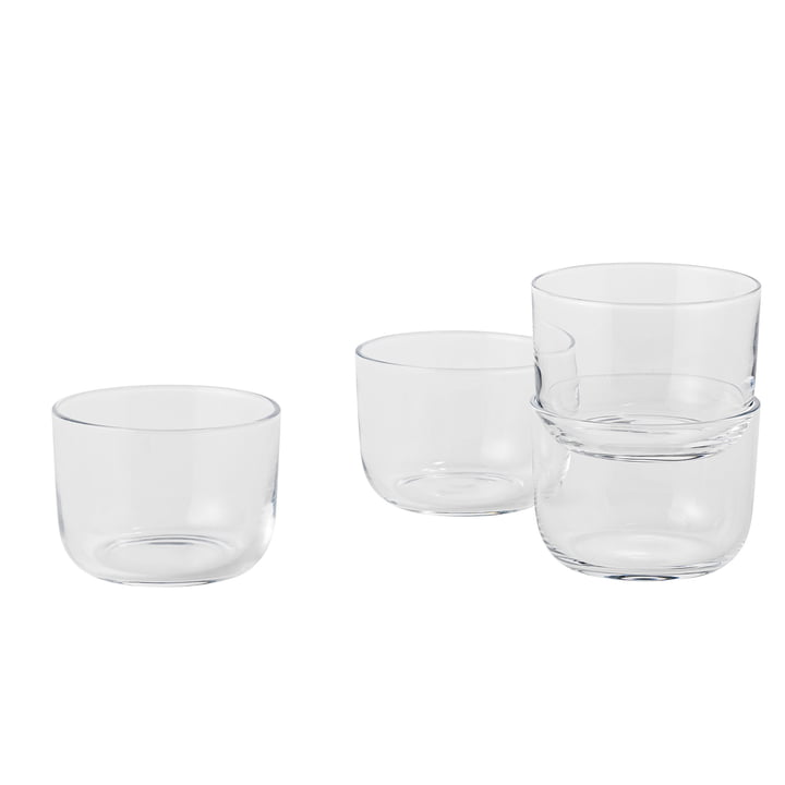 Corky Tumbler (set of 4) by Muuto in Clear