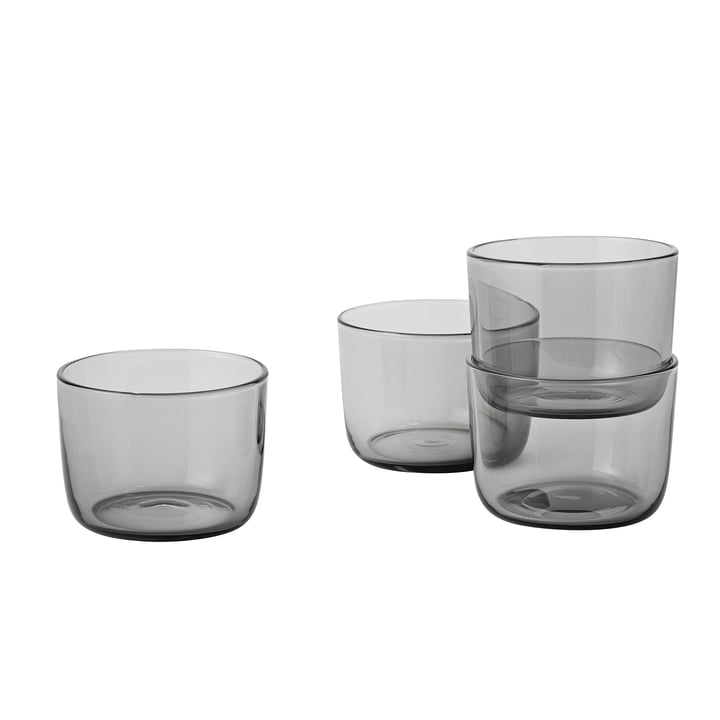 Corky Tumbler (set of 4) Low by Muuto in Grey