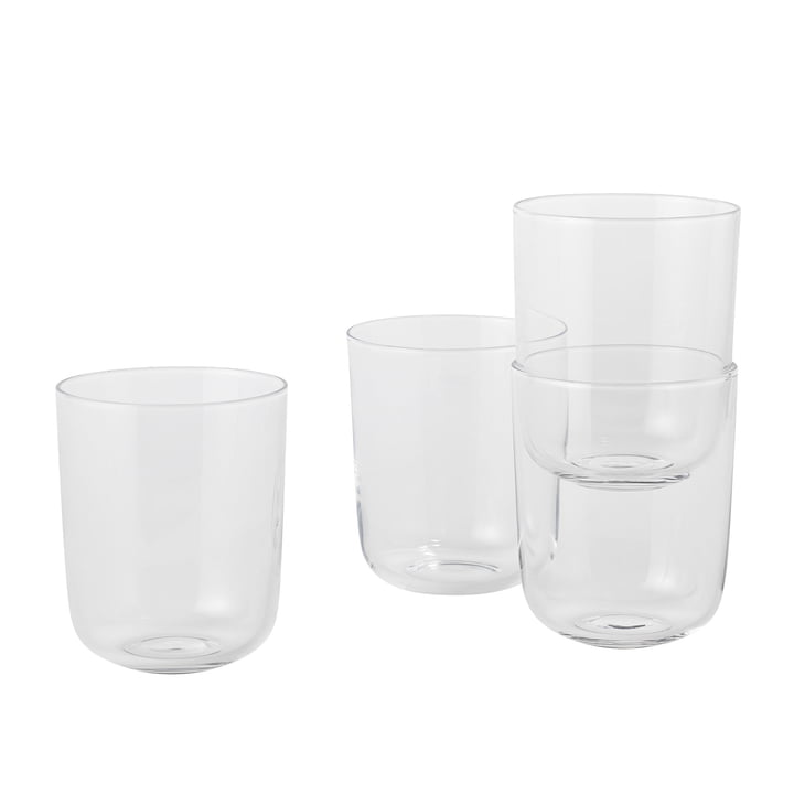 Corky Tumbler (set of 4) Tall by Muuto in Clear