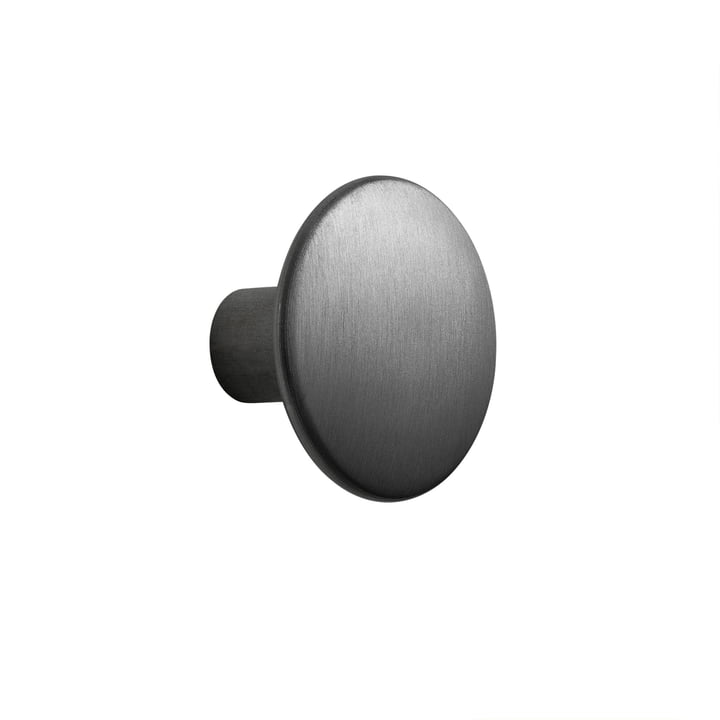 """Wall hook """"The Dots Metal"""" Single Small from Muuto in black"""