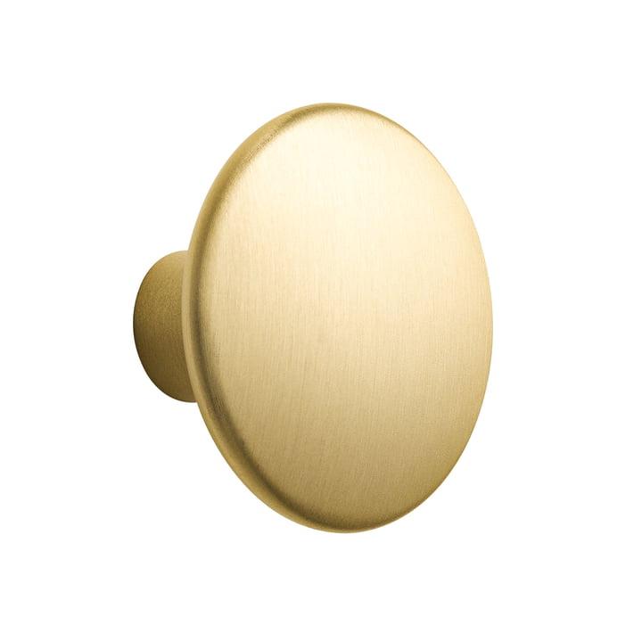 "Wall hook ""The Dots Metal"" Single Medium by Muuto made of brass"
