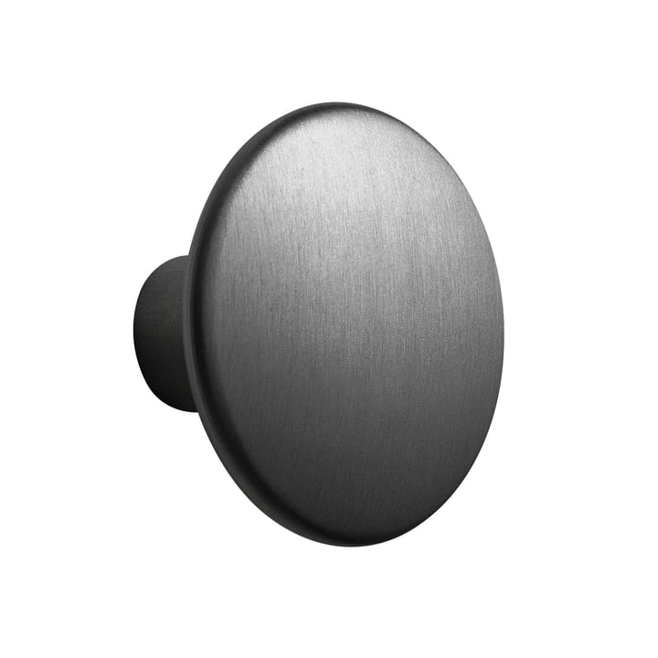 "Wall Hook ""The Dots Metal"" Single Medium by Muuto in Black"