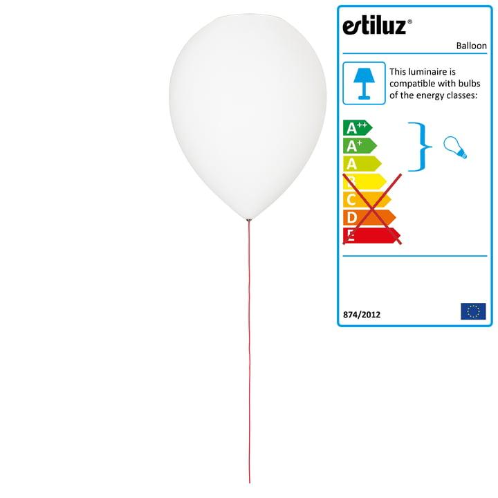 Balloon ceiling lamp by Estiluz