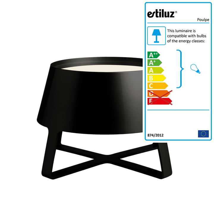 Estiluz - Poulpe Floor Lamp, black