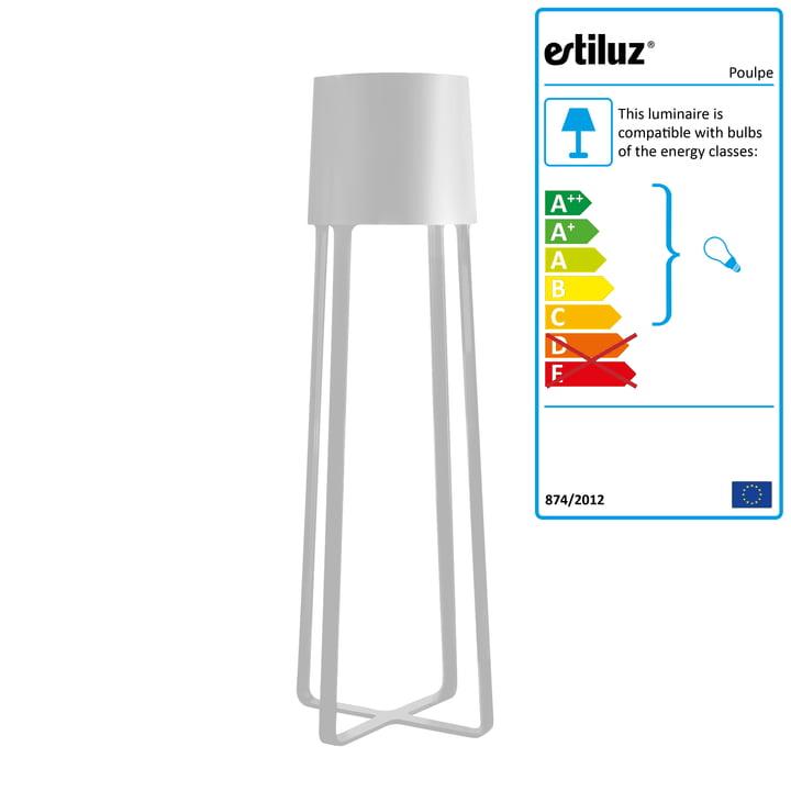 Estiluz - Poulpe Standard Lamp, white