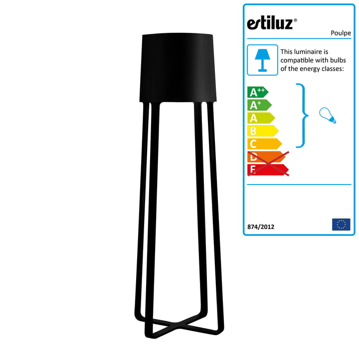 Estiluz - Poulpe Standard Lamp, black