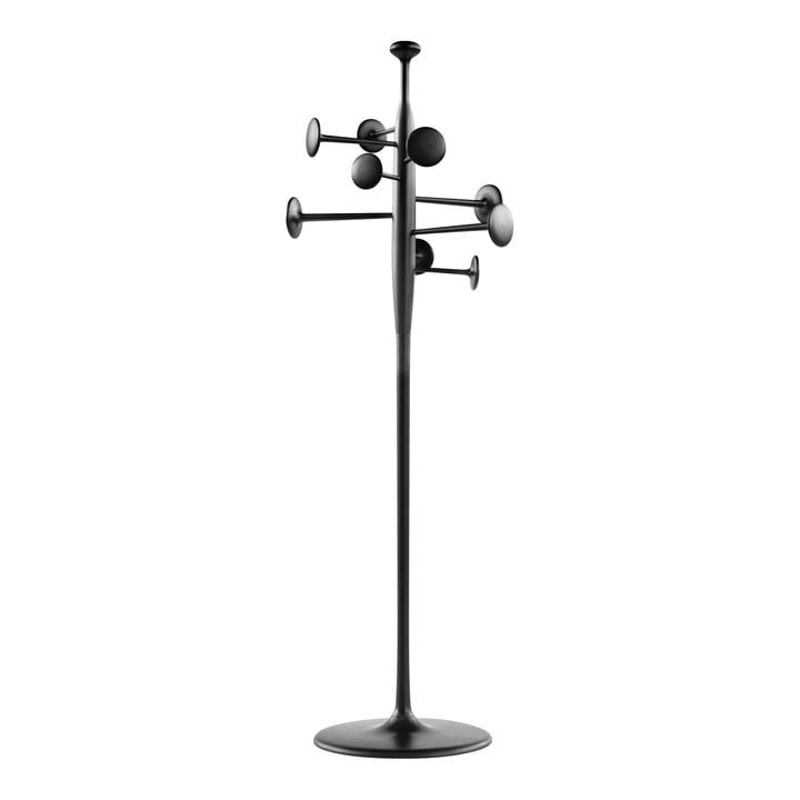 Mater - Trumpet coat stand, black lacquered aluminium