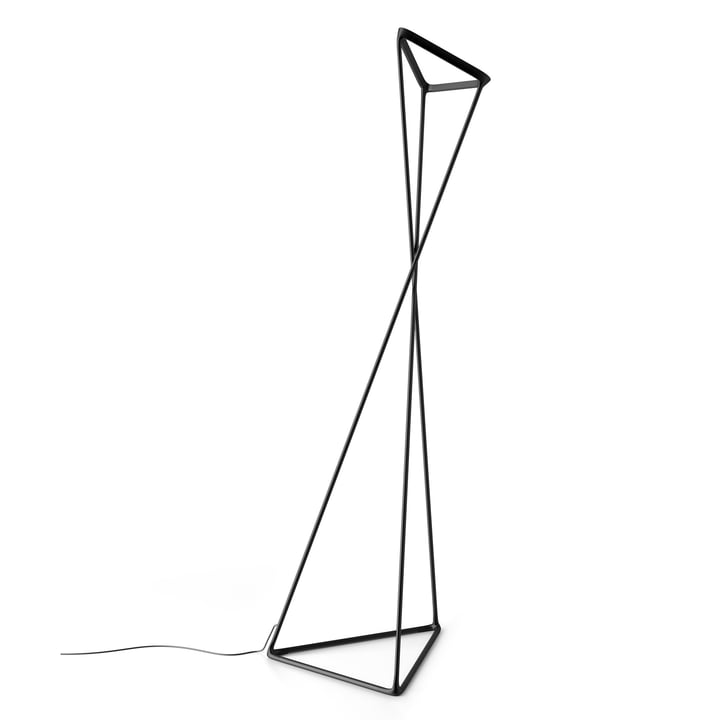Tango Floor Lamp by Luceplan in Black