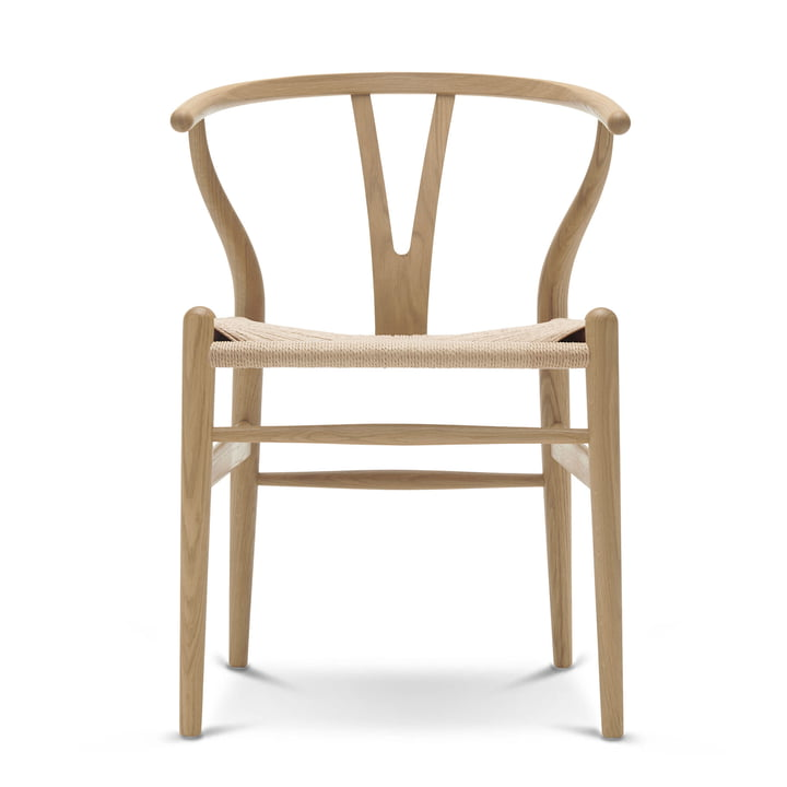 CH24 Wishbone Chair from Carl Hansen in soaped oak / natural wicker