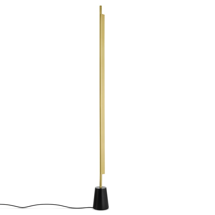 D81 Compendium LED Floor Lamp by Luceplan in Brass / Black
