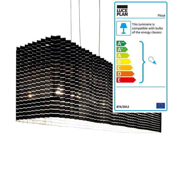 Plissé Pendant Lamp by Luceplan in Black