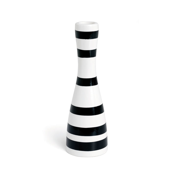 Omaggio Candleholder 20 cm by Kähler Design in black