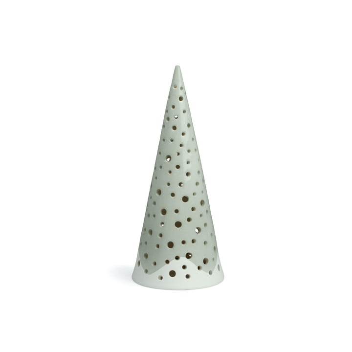 Nobili tealight candle cone 18 cm from Kähler design in steel grey