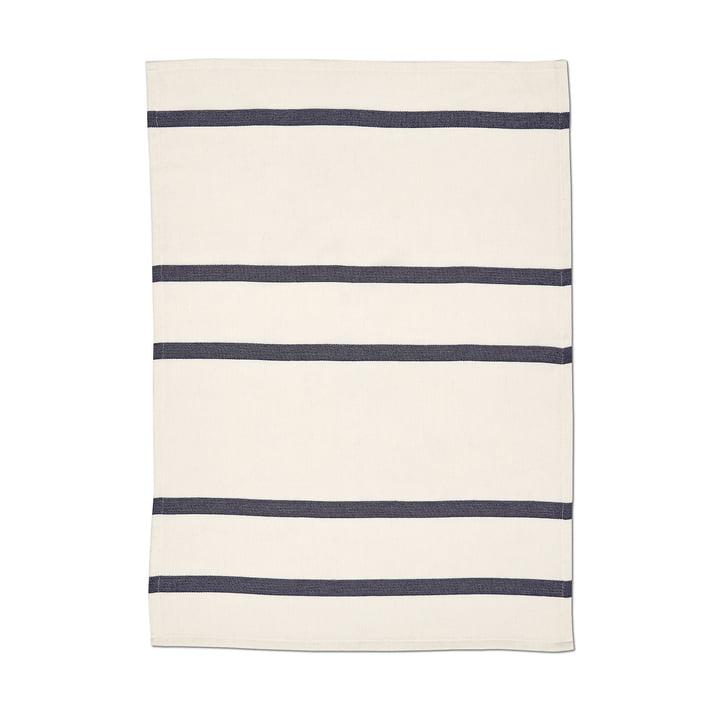 Stripes tea towel 2 by Skagerak whisper white / dark blue
