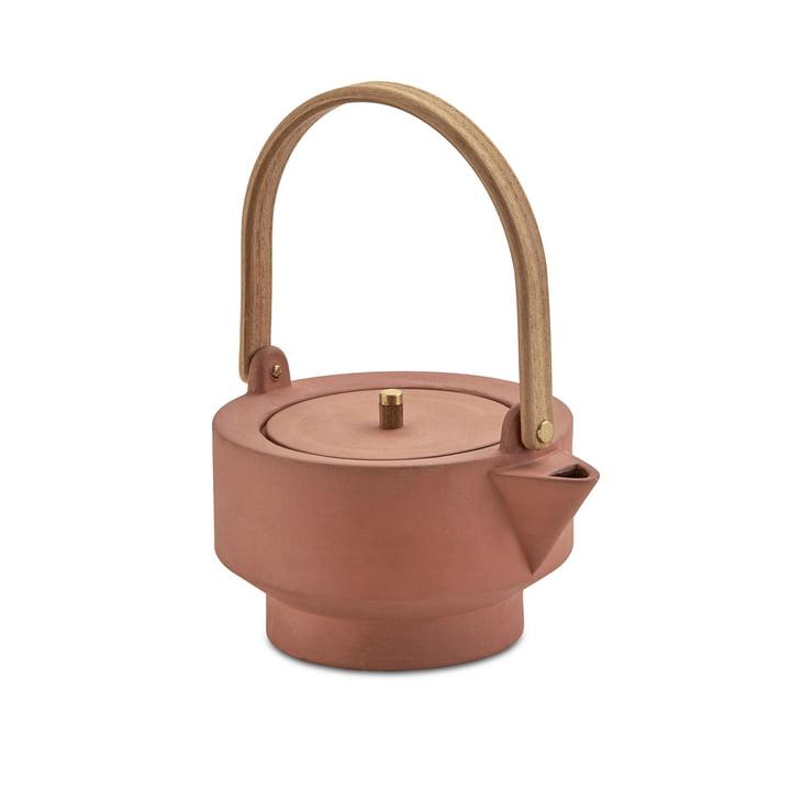 Edge Teapot by Skagerak in Terracotta