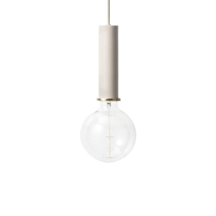 The ferm Living - Socket pendant luminaire High in light grey