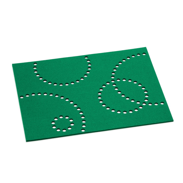 Hey Sign - Table Mat Stamp rectangular, 5 mm in clover green