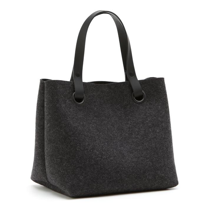 The Hey Sign - Mia Felt Bag in Graphite