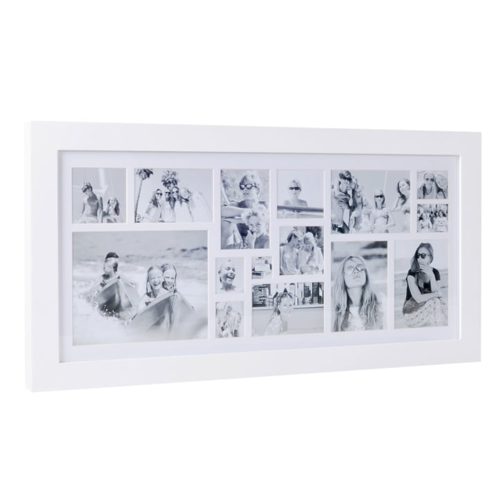 Multi Photo frame for 15 pictures from XLBoom in white