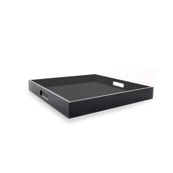 Zen tray by XLBoom in coffee bean and white