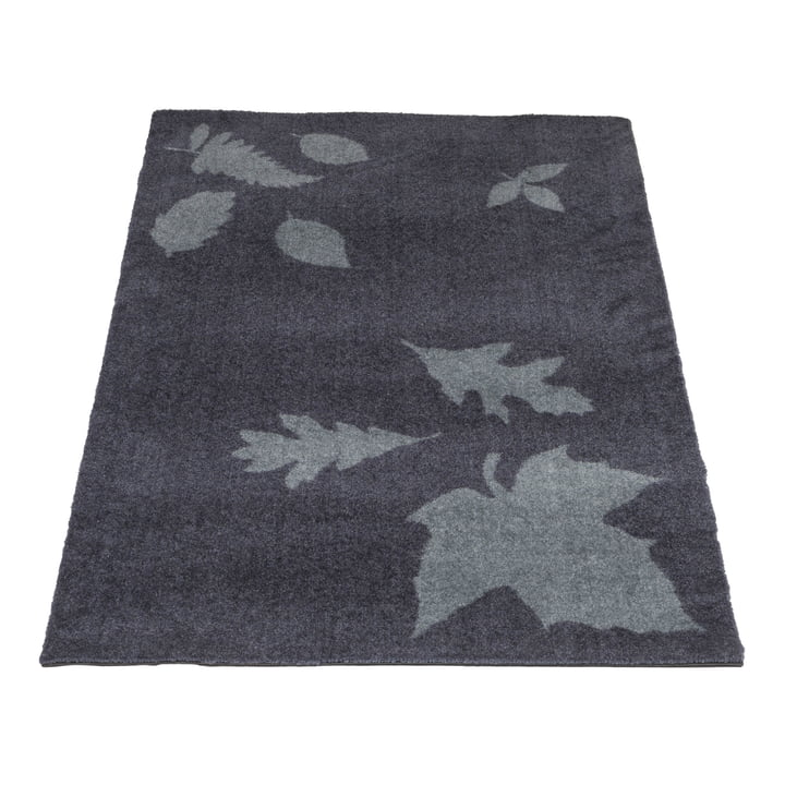 The tica copenhagen - Leaf Mega Doormat in 67 x 120 cm, grey
