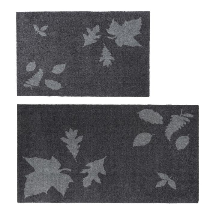 The tica copenhagen - Leaf Mega Doormat in 67 x 120 cm, grey and 60 x 90 cm, grey