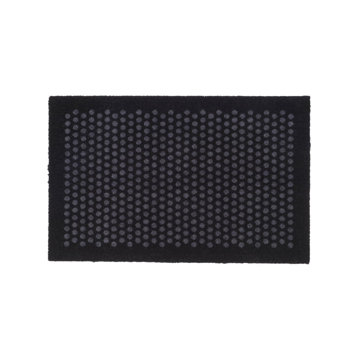 tica copenhagen - Dot Doormat, black / grey, 60 x 90 cm