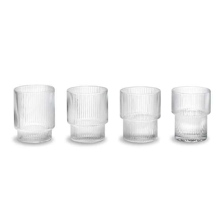 Ripple Glasses (set of 4) by ferm Living