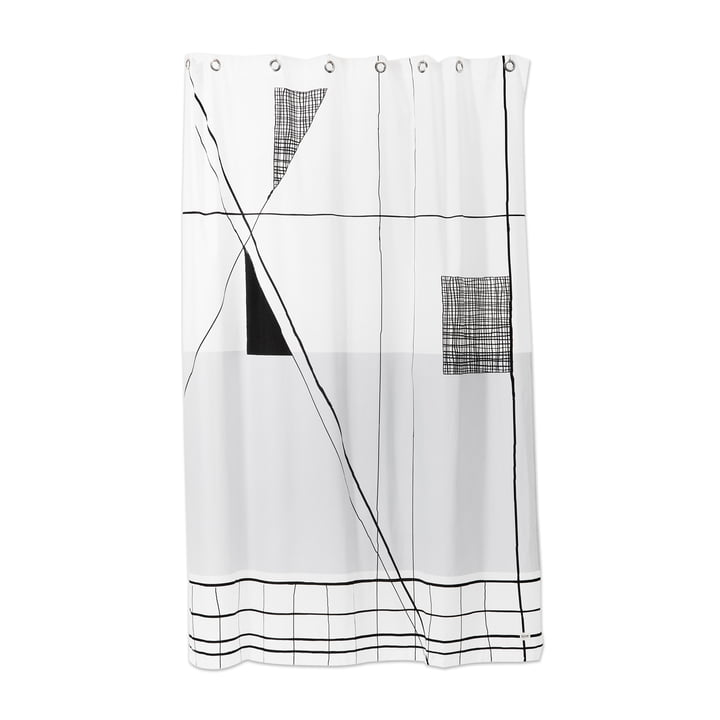 Trace Shower Curtain by ferm Living