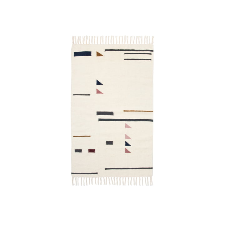 Kelim Rug Colour Triangles in Small by ferm Living